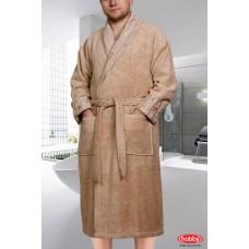 """Махровый халат """"ELIZA"""" L, XL бежевый"""