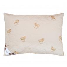 Подушка двухкамерная шерсть мериноса/тик
