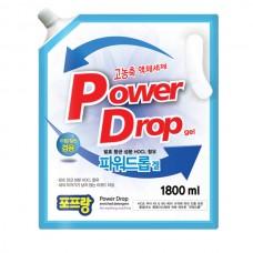 Жидкость для стирки белья Power Drop концентрат автомат+ручная стирка (1,8л) (запаска)